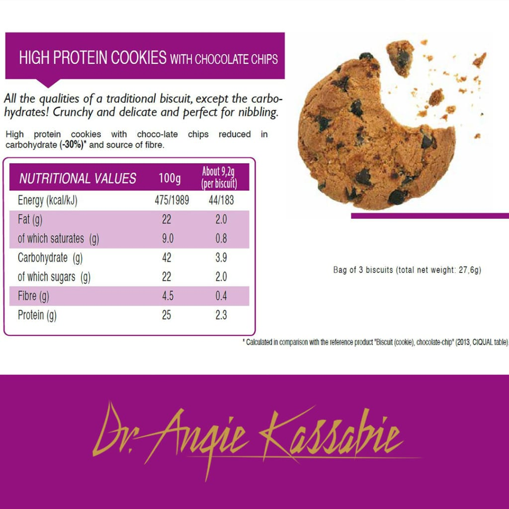 High Protein Cookies with Chocolate Chips